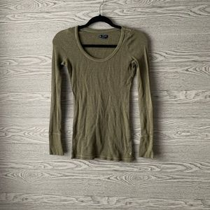 American Eagle Outfitter Green Long Sleeve Top